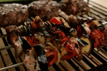 Greek Stylie Pork & Veggie Kebabs