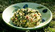 Spinach, Courgette & Pesto Risotto