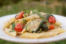 Griddled Courgette & Cherry Tomato Garden Pasta
