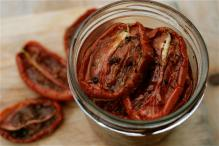 Homemade Sun (aka Oven) Dried Tomatoes!