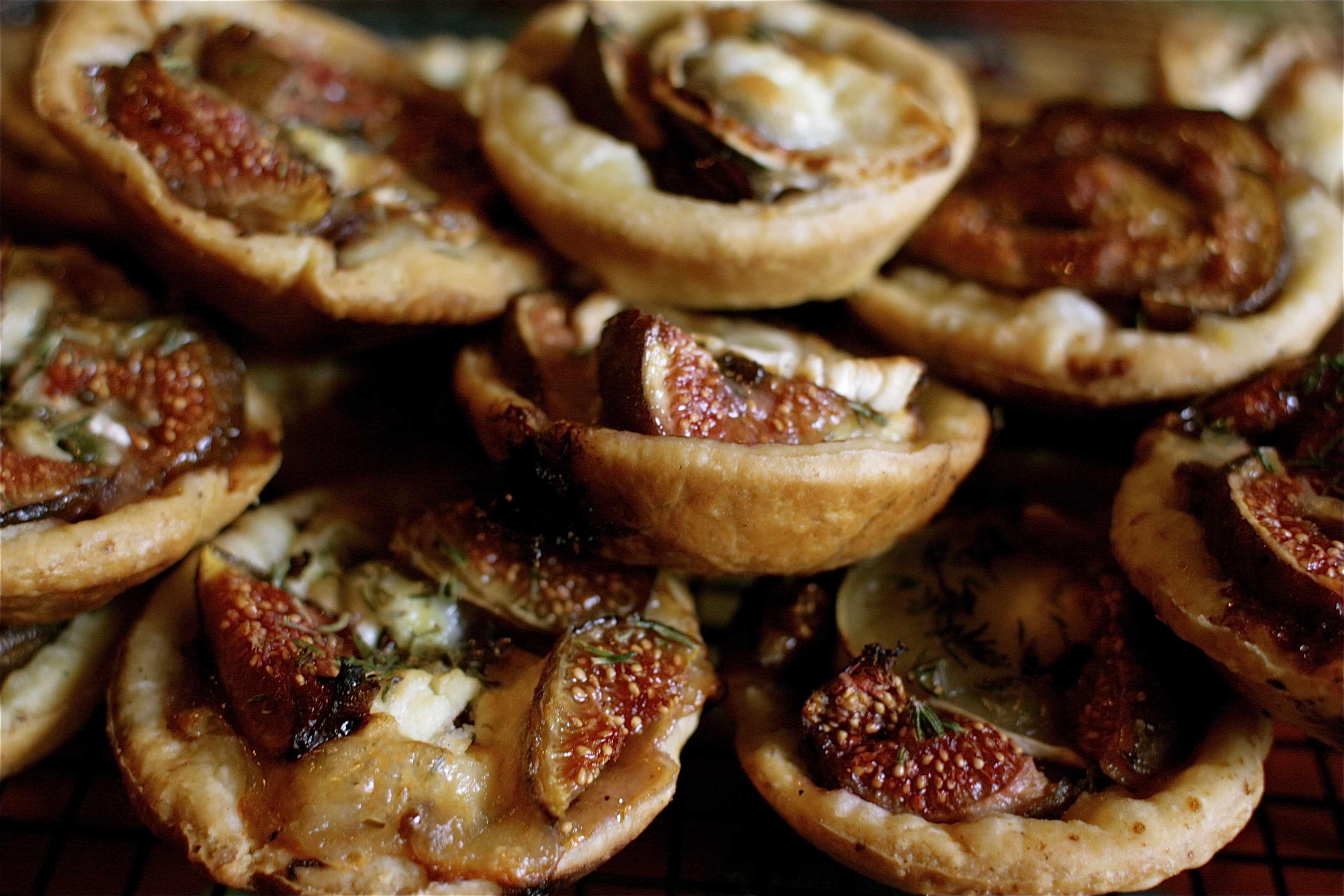couple of tomato tarts or leek goats cheese tart