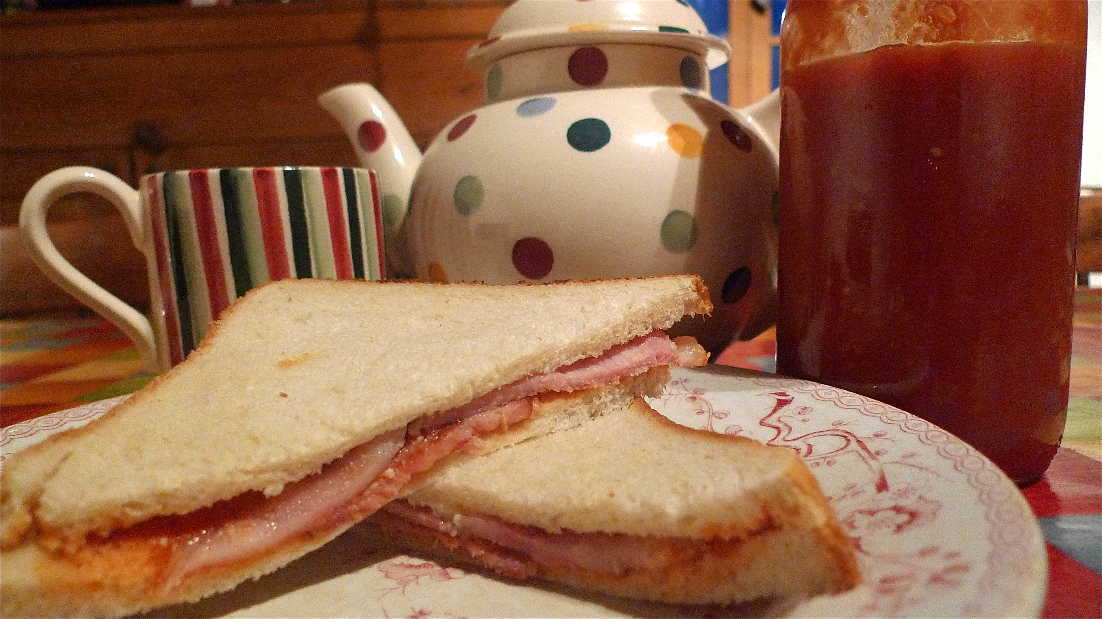 not sure you can beat a bacon butty with homemade Tommie K, this ...