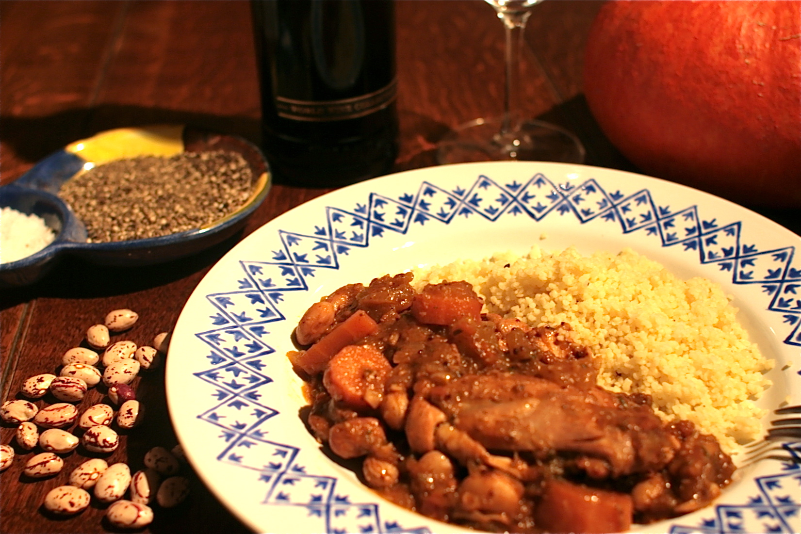 Chicken, Pumpkin & Borlotti Stew | Chez Foti