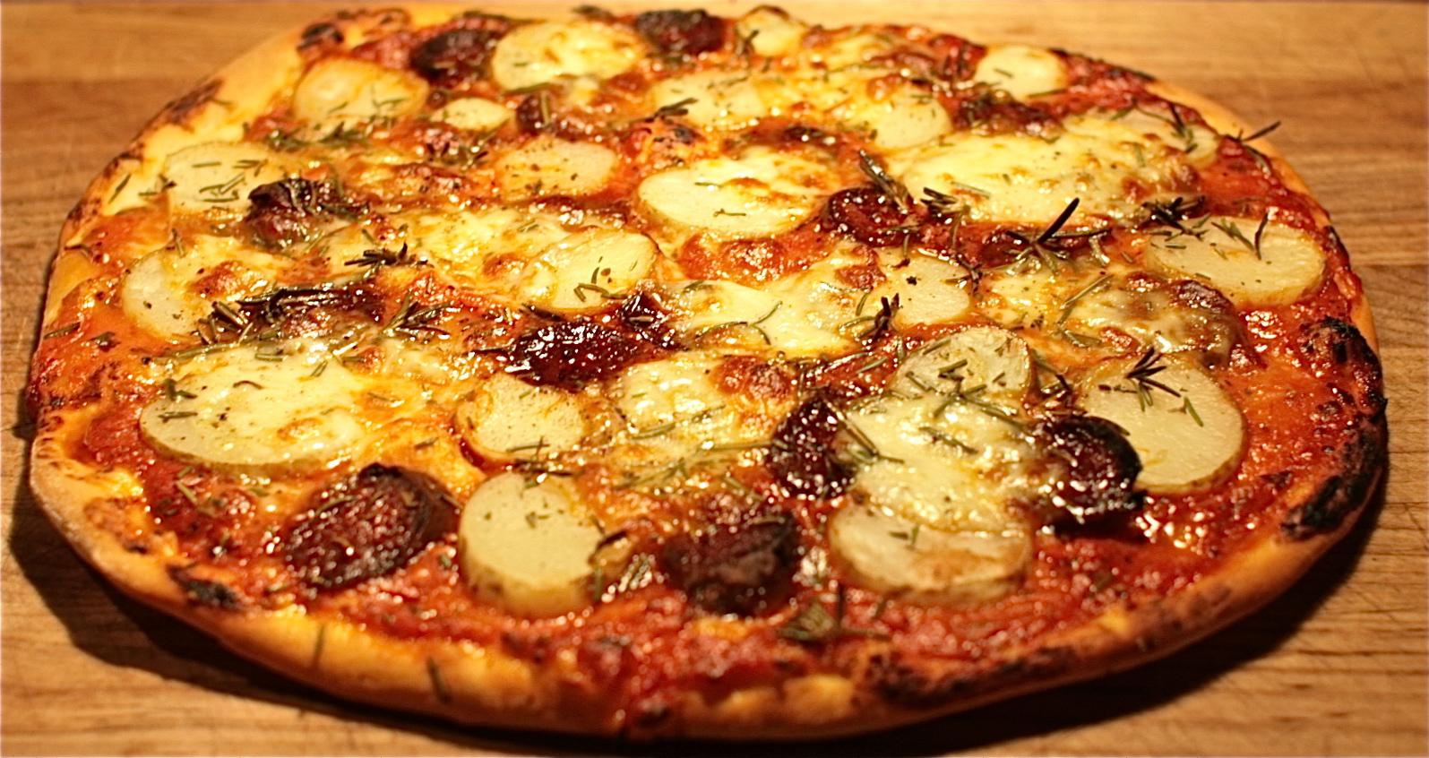 Chorizo, Potato & Rosemary Pizza