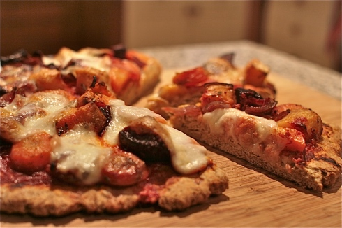 Roasted Roots Scone-based Pizza