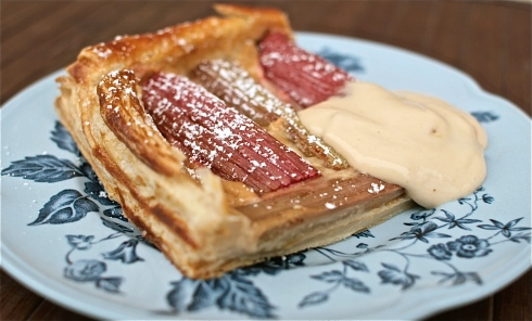 A slice of Rhubarb Tart