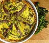 PSB, Anchovy & Parmesan Tart