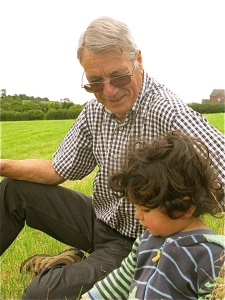 Jacques with his Grandpa