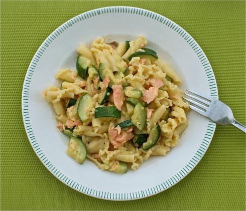 Smoked Salmon & Courgette Carbonara Recipe