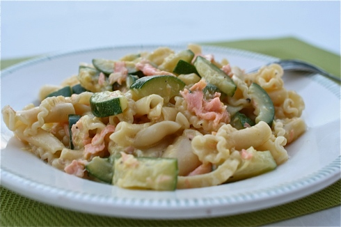 Smoked Salmon & Courgette Carbonara