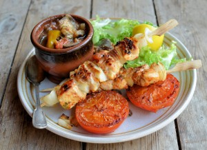 Lemon & Sweet Pepper Chicken Kebabs
