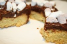 Shortbread Squares with Chocolate Fudge & Marshmallow Topping
