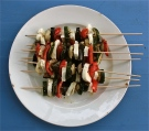 Roasted Veggie & Halloumi Kebabs