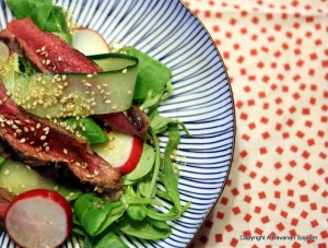 Japanese Style Steak Salad